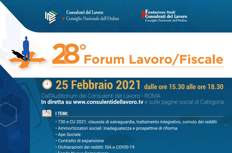 28° Forum Lavoro/Fiscale dei Consulenti del lavoro